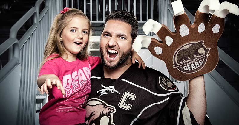 Father and Daughter Hershey Bears fans