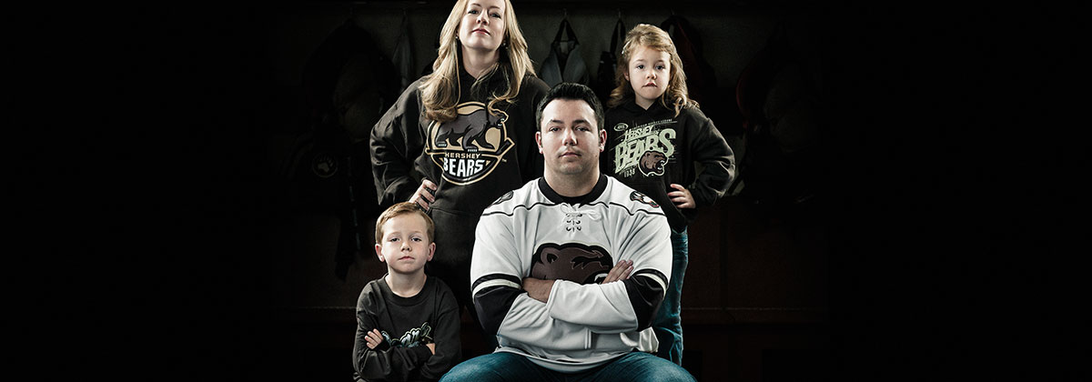 Hershey Bears Fan Family