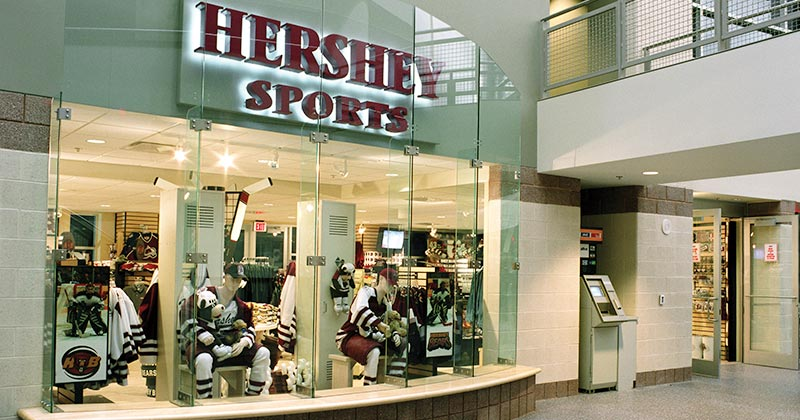 Hershey Sports store inside the Giant Center