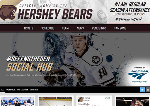 Social Hub on the Bears website