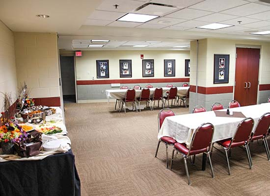Catering at the Giant Center